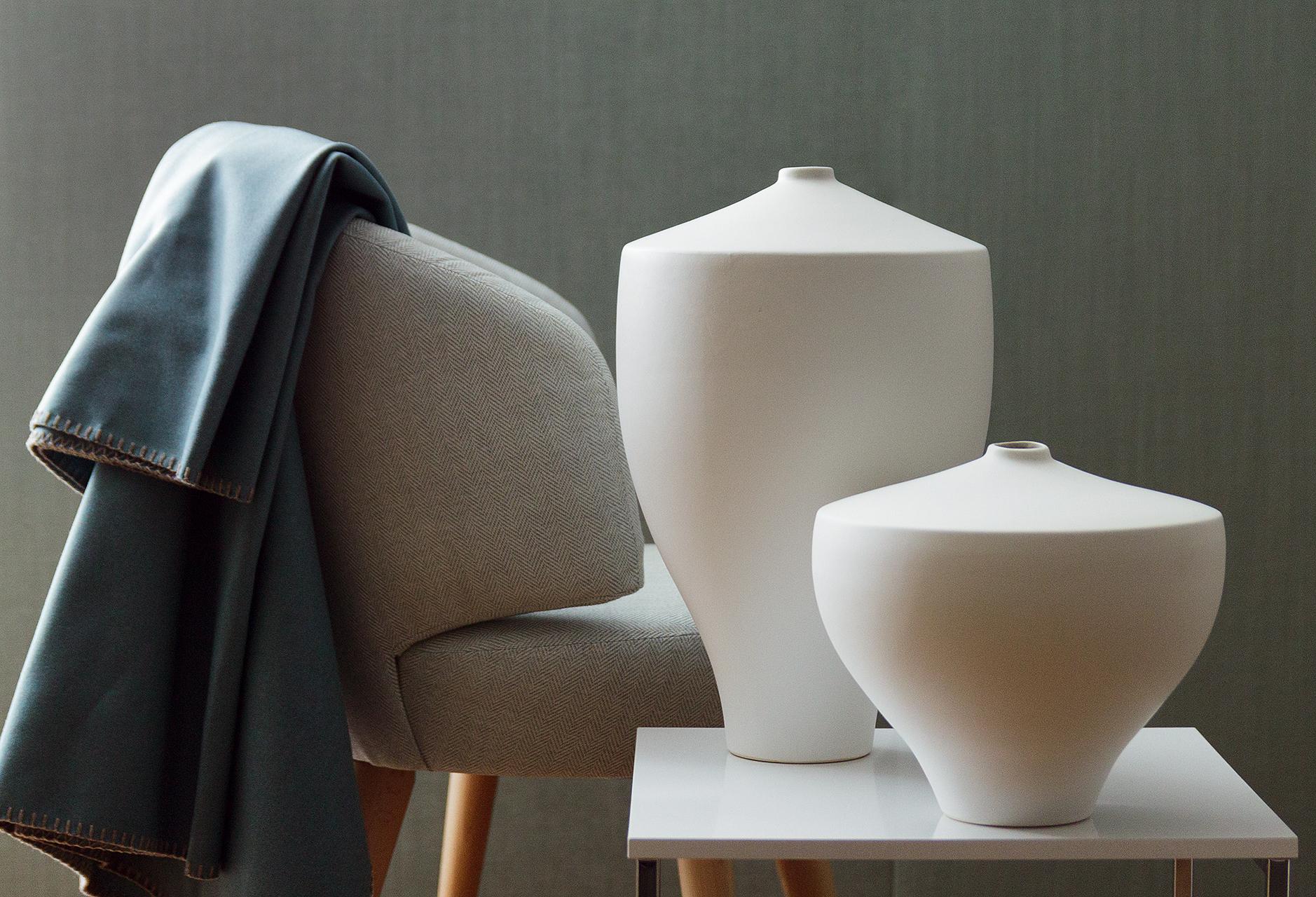 vase weiss h39 dm25cm vasen sonnhaus. Black Bedroom Furniture Sets. Home Design Ideas